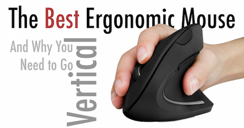 quitting sitting best ergonomic mouse on the market vertical mouse handshake keyboard carpal tunnel syndrome wrist pain evoluent microsoft logitech anker 2.4G Wireless Vertical Ergonomic Optical Mouse Go Vertical