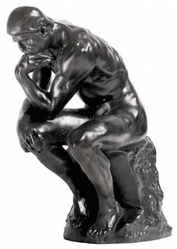 quitting sitting standing desk hurt performance sitting standing cognition mental ability thinking the thinker statue