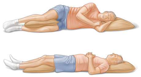 quitting sitting best sleeping posture never sleep on your stomach side back pillow between legs spoon pillow between arms diagram