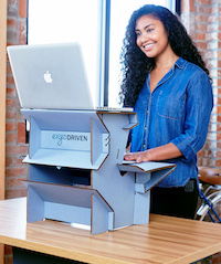 ergodriven spark start standing now desk $20 twenty bucks two levels ergonomics ikea diy standing desk hack lede